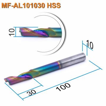 Фреза спиральная однозаходная по алюминию Mnogofrez MF-AL101030 HSS